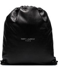 Saint Laurent - Рюкзак На Шнурке С Принтом Логотипа - Lyst