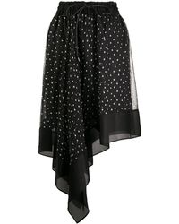 Sacai ポルカドット スカート - ブラック
