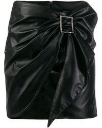 Pinko ドレープ ミニスカート - ブラック