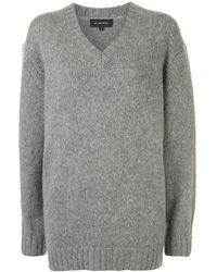 Lee Mathews Miho V-neck Sweater - Gray