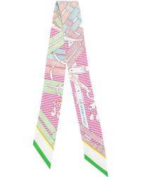 Hermès Mors a Jouets Chemise Schal - Pink