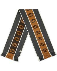 Gucci - インターロッキングg ストライプ スカーフ - Lyst