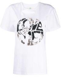 Alberta Ferretti Live Your Dream Tシャツ - ホワイト
