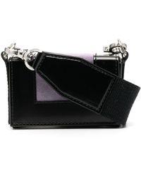 AMI Small Panelled Box Bag - Black