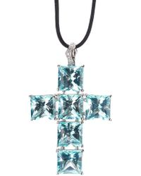 Gavello - Cross Pendant Necklace - Lyst