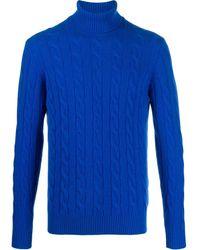 Lardini ケーブルニット セーター - ブルー