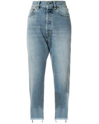 Golden Goose Deluxe Brand Gerade Cropped-Jeans - Blau