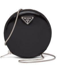 Prada レザークラッチバッグ - ブラック