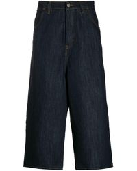 Societe Anonyme Weite Cropped-Jeans - Blau