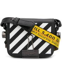 Off-White c/o Virgil Abloh Diag Binder Clip Shoulder Bag - Black