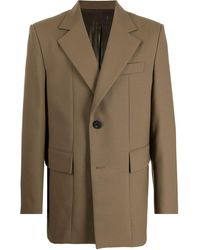 WOOYOUNGMI テーラード シングルジャケット - ブラウン