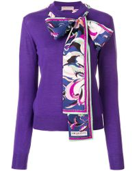 Emilio Pucci | Scarf-detailed Sweater | Lyst