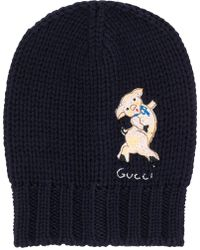 Gucci - Pig Patch Beanie - Lyst