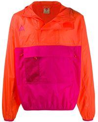 Nike カラーブロック パーカー - ピンク