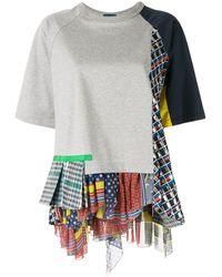 Kolor - パッチワーク Tシャツ - Lyst