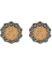 Dolce & Gabbana Запонки С Гравировкой И Кристаллами - Металлик