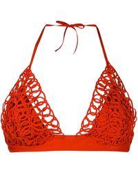 La Perla Top bikini con decorazione - Arancione