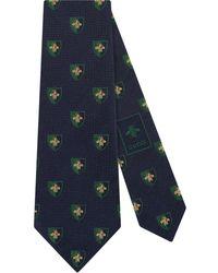 Gucci - Corbata de seda con insignia y abeja - Lyst