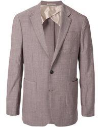 Cerruti 1881 Textured Blazer Jacket - Purple