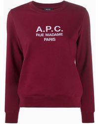 A.P.C. Rue Madame Paris スウェットシャツ - レッド