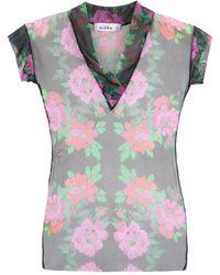 Amir Slama Floral Tulle Blouse - Многоцветный