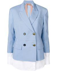 N°21 Пиджак С Панелями В Стиле Блузки - Синий