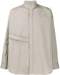 Damir Doma Loose-fit Strap Detail Shirt - Green