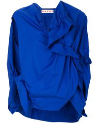 Marni Ruched Top - Blauw