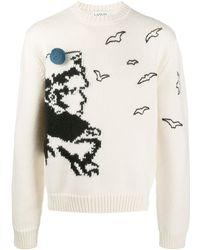 Lanvin インターシャ セーター - ホワイト