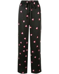 Marc Jacobs Heart Print Pyjama Trousers - Black