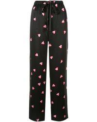Marc Jacobs Pantalon de pyjama à cœurs - Noir