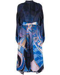 Emilio Pucci Платье С Абстрактным Принтом - Синий