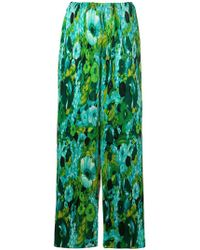 Richard Quinn - Floral Flared Trousers - Lyst