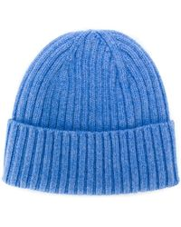 92b1c10698f Lyst Dell Oglio Cashmere Cable Knit Hat In Brown For Men