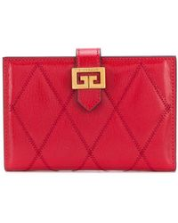 Givenchy Gv3 Quilted Leather Wallet - Red