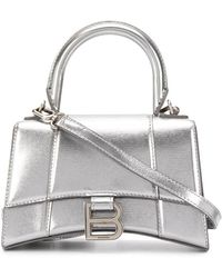 Balenciaga Hourglass Top Handle Xs Bag - Metallic