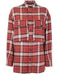 R13 - フラップポケット チェックシャツ - Lyst