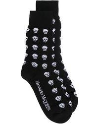 Alexander McQueen Носки С Принтом Skull - Черный
