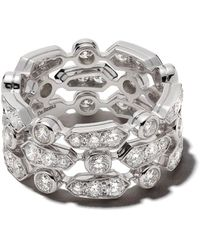 De Beers 18kt white gold Frost diamond band - Multicolore
