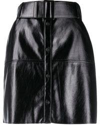 MSGM Minigonna con cintura - Nero