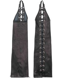 Manokhi - Lace Up Long Gloves - Lyst