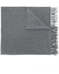 A.P.C. 'Polska' Schal mit Fransen - Grau
