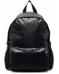 Calvin Klein ロゴパッチ バックパック - ブラック