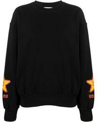 Aries Star Print Sweatshirt - Black