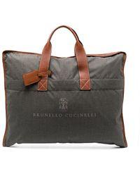 Brunello Cucinelli ガーメントバッグ - グレー