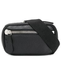 Maison Margiela Zipped Grainy Belt Bag - Black