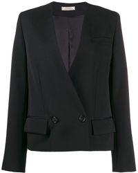 Nina Ricci Blazer en velours à boutonnière croisée - Noir