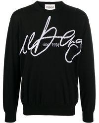 Iceberg ロゴインターシャ セーター - ブラック