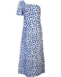 Maryam Nassir Zadeh Leopard pattern midi dress - Blu
