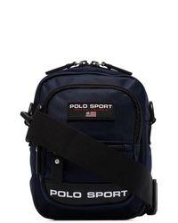 Polo Ralph Lauren Logo-printed Cross Body Bag - Blue